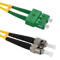 Patch cord ST/PC-SC/APC, Duplex, 9/125, 10m