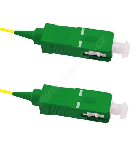 Pigtail SC/APC-SC/APC, oboustranně konek., 9/125 5m, G657A, volná ochrana EASY STRIP