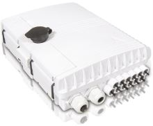 Optický venkovní box, IP54, 12xSC sim. / LC dup., výkl. kazeta 24 svárů, 200x260x78mm