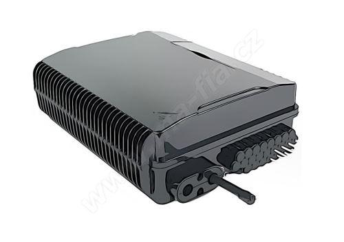 Optický box, IP44, výkl. management 24 svárů, 24xSC, průběžné vstupy, zámek šroubem