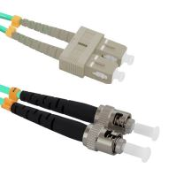 Patch cord ST/PC-SC/UPC Duplex 50/125 1m, OM3