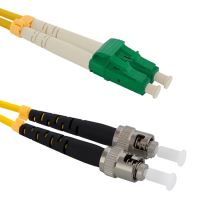 Patch cord LC/APC-ST/PC, Duplex, 9/125, 1m