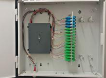 Optický nástěnný rozvaděč, pro 48SC,E2000, LC, max. 96 svarů, šedý, výroba Ma-Fia s.r.o.