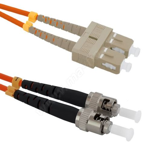 Patch cord ST/PC-SC/UPC Duplex 50/125 10m