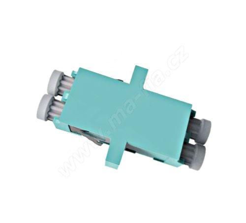 Adaptér optický LC-LC, Duplex, UPC/PC Multimode, OM3