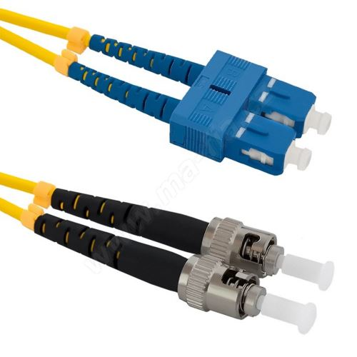 Patch cord ST/PC-SC/UPC Duplex 9/125 1m