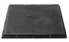 Víko Hidrostank, 580x580mm, zatížitelnost B125 (12,5t), kompozit, fixace šroubem