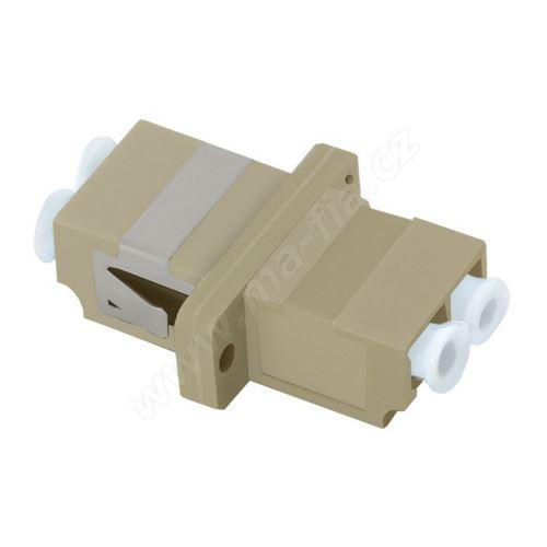 Adaptér optický LC-LC, Duplex, UPC/PC, multimode