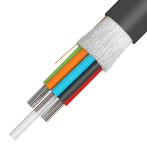 Kabel A-DQ(ZN) B2Y,24vl.(12x50/125 OM3 + 12x9/125) G652D, Z254, KDP