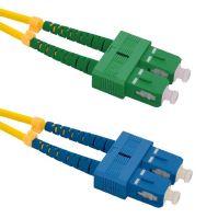 Patch cord SC/APC-SC/UPC Duplex 9/125 1m
