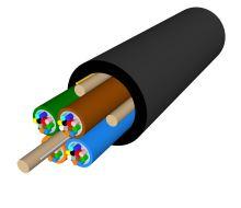 Kabel optický A-DQ4Y, 48vl., 4x12, 9/125, PA, 3.6mm, MLT, WIREX