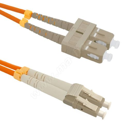 Patch cord LC/UPC-SC/UPC Duplex 62,5/125 2m
