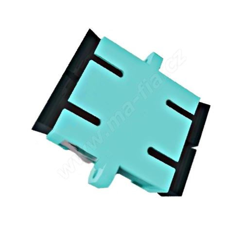 Adaptér optický SC-SC, Duplex, UPC/PC multimode, OM3