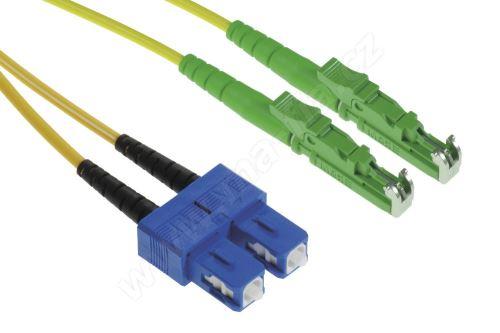 Patch cord E2000/APC-SC/PC, Duplex, 09/125, 2x1,8mm, 1m