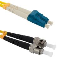 Patch cord LC/UPC-ST/PC Duplex 9/125 1m