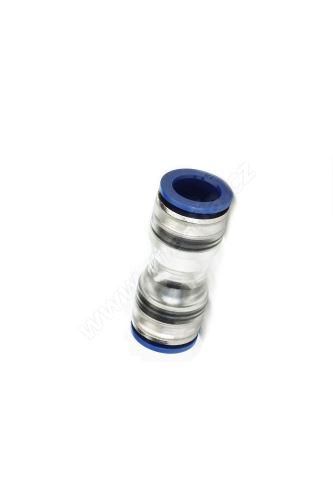 Spojka mikrotrubičky 12/8 mm, přímá s metalickou vložkou, High-End