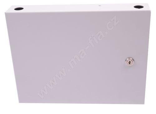 Optický box nástěnný, neosazený pro 24 x SC adaptérů uzamykatelný, 305x240x50 mm