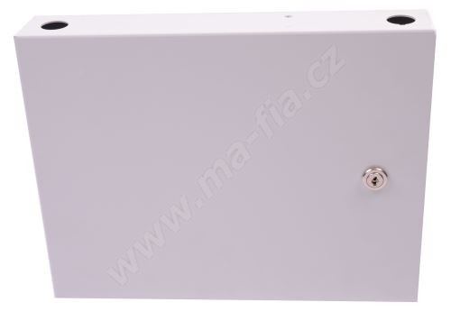 Optický box nástěnný, neosazený pro 24 x ST adaptérů uzamykatelný, 305x240x50 mm