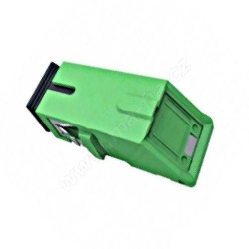 Adaptér optický SC-SC, Simplex, APC, Singlemode s automatickou krytkou