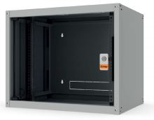 """Legrand Evoline 19"""" nástěnný rozvaděč 16U 600x600 skleněné dveře 65 kg černý"""