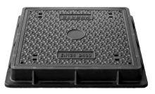 Víko kompozitní D400 (40t) pro komory Hidrostank, 58x58cm a 68x68cm, fixace šroubem