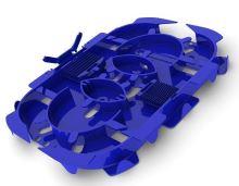 Velká optická kazeta pro 24 svarů, modrá, s držáky a víkem Speedway