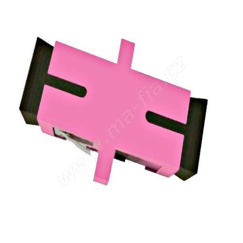 Adaptér optický SC-SC, Simplex, UPC/PC, multimode, OM4