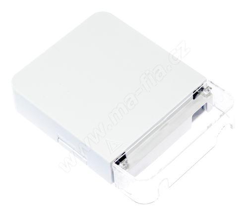 Zásuvka optická 1x SC, LC duplex, výklopná kazeta, na omítku, transparentní kryt, FTTH