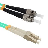 Patch cord LC/UPC-ST/PC Duplex 50/125 10m, OM3