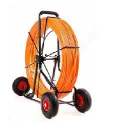 Protahovací pero potažené PVC - ALLROAD, 11mm, délka 300m ,umístěné v odvíjecím vozíku