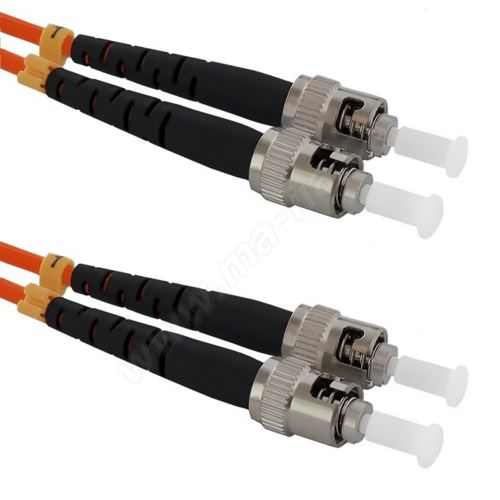 Patch cord ST/PC-ST/PC Duplex 50/125 2m