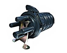 Spojka hrncová pro max. 48 vl., 3x kruhový vstup, 1 oválný vstup, vybavená pro 48 svárů